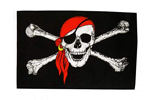 Fahne Flagge Pirat mit Kopftuch 30 x45 cm