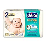 Chicco Chicco Ultra Soft - Pack 25 pañales ultra absorbentes, Talla 2, 3-6 kg (Mini) 25 ud - Pañales Maxi 3-6 kg 50 ud