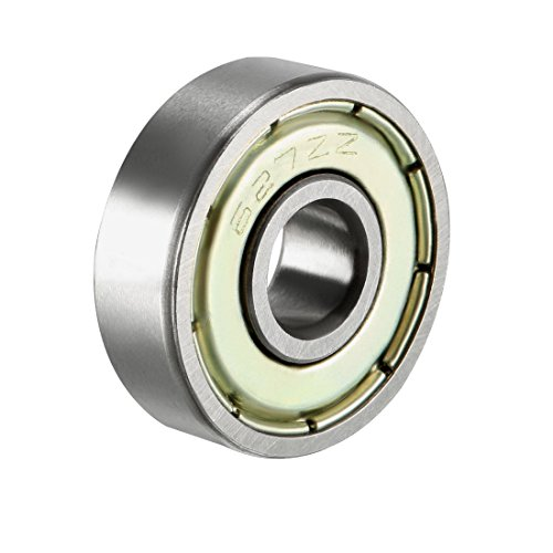 uxcell 627ZZ Deep Groove Ball Bearing Double Shield 627-2Z 80027, 7mm x 22mm x 7mm Chrome Steel Bearings (Pack of 1)