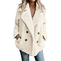 LUCKYCAT Women's Casual Jacket Winter Warm Parka Outwear Ladies Coat Overcoat Outercoat (Blanco, Medio)