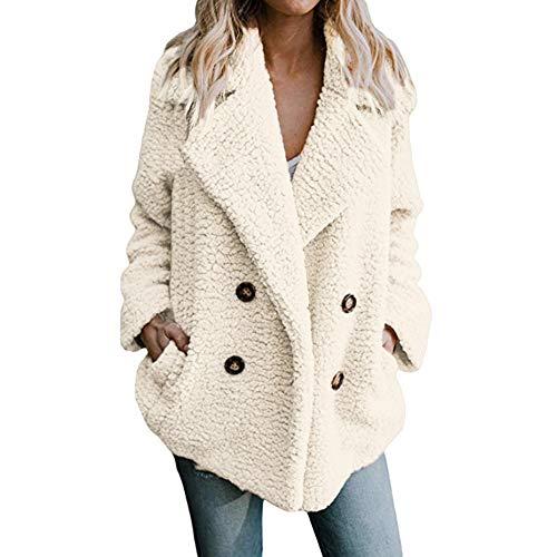 Lenfesh Chaqueta cálido Casual de Las Mujeres de Invierno Outwear Parkas Abrigo Larga de Mujer Talla Grande S-3XL