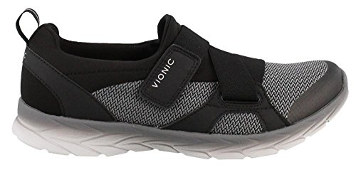 Vionic Women's Brisk Dash Slip-on Sneaker Black Charcoal 9M