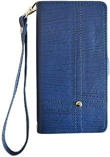 【EXQUIS】SONY ソニー Xperia Z Ultra SOL24 au ケース スマホケース 手帳型 SOL24 専用ケース カバー カード収納 スタンド機能 マグネット式 横開き ・横型 財布型 耐摩擦 ネイビー (PU142-Di...