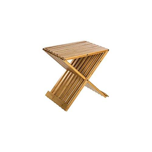 PEGANE Tabouret en Bambou Pliante - H.45 x L.40 x P.32 cm