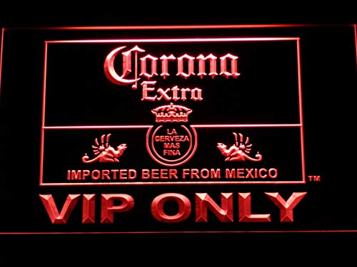 MorganNeon Corona Extra VIP Only W30cm x H20cm LED Neon Light Sign Red