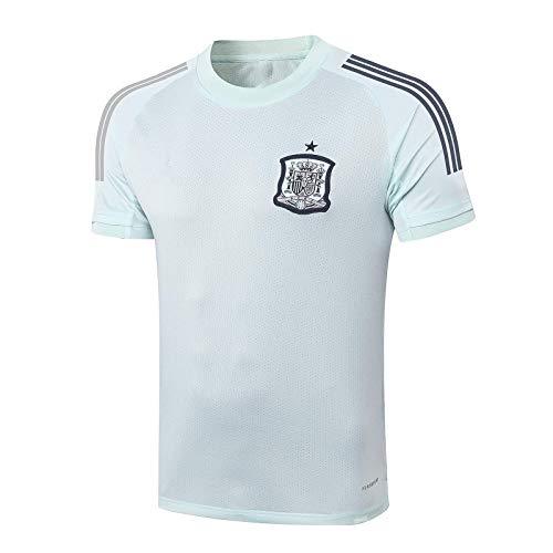 TEZAI Camisa de Entrenamiento de España para Hombre Equipo de fútbol Personalizado Transpirable y de Secado rápido Camiseta de fútbol Regalo L