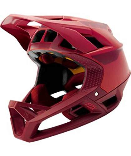 Fox Racing Proframe Quo MTB Helmet, Color Rojo Claro, tamaño Small
