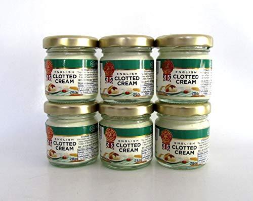 Englische Clotted Cream, feste Rahm-Creme, 56% Fett, 6x28g.