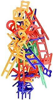 Chairs and Ladders Suspend Family Game - Stacking Balance Game - 18 Individual Pieces