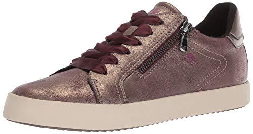 Geox Damen Blomiee 3 Fashion Sneaker Turnschuh, Burgunderrot/Leine, 37.5 EU