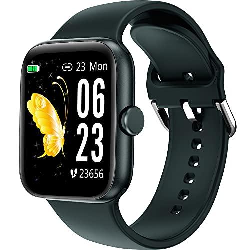 Holabuy Reloj Inteligente, Smartwatch Hombre Mujer niños Impermeable IP68, Pulsera de Actividad Inteligente con Pulsómetros Podómetro Monitor de Sueño Contador de Caloría para Android iOS
