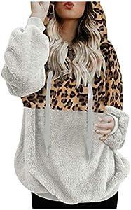 SHOBDW Liquidación Venta Mujer Sudadera con Capucha Suelta Tallas Grandes Jersey de Mujer Jersey otoño Invierno Manga Larga Remata Abrigo cálido (XL, T-Blanco)