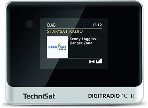TechniSat DIGITRADIO 10 IR - DAB+ und Internetradio Adapter (WLAN, Farb-Display, Bluetooth, Fernbedienung, Wecker, mit Audioanschlusskabel, zur Aufrüstung bestehender HiFi-Anlagen) schwarz/silber