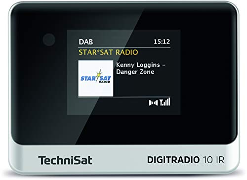 TechniSat DIGITRADIO 10 IR - DAB+ und Internetradio Adapter (WLAN, Farb-Display, Bluetooth, Fernbedienung, Wecker, optimal zur Aufrüstung bestehender HiFi-Anlagen) schwarz/silber