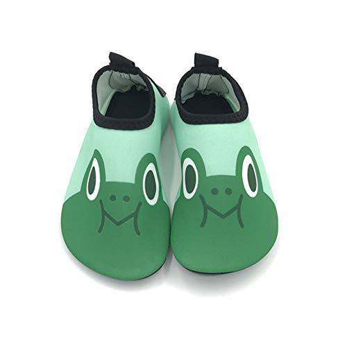 Vast Zapatos acuáticos de verano para playa, zapatos acuáticos, suela de 5 mm, para niños, niñas, dibujos animados descalzos para nadar de secado rápido (tamaño: 34-35 (19,3-20,3 cm), color: color 05)