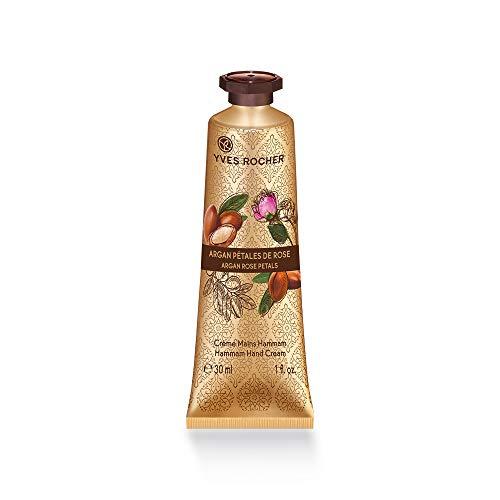 Yves Rocher LES PLAISIRS NATURE Handcreme Arganöl-Rosenwasser, feuchtigkeitsspendende Hand-Pflege, 1 x Tube 30 ml