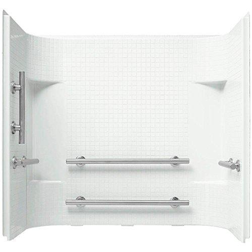 """Sterling Plumbing 71164103-N-0 Accord Bathtub Wall Surround 55.125"""" x 60"""" x 36"""", White"""