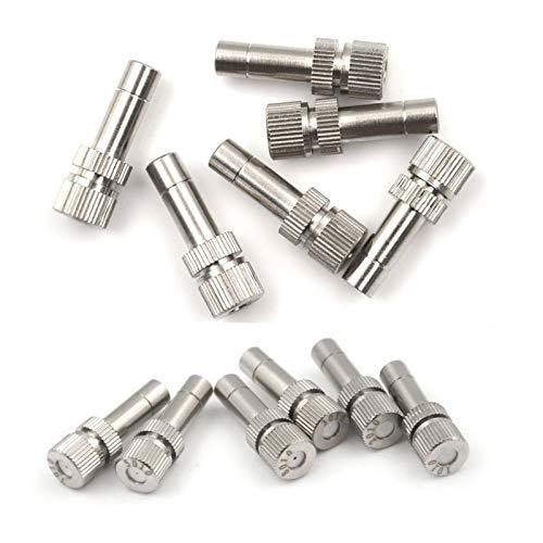 BHGFU 60 Piezas Boquilla de Latón para Nebulización Atomización Spray Mister Boquilla para Sistema de refrigeración al Aire Libre (Size : 0.4mm)