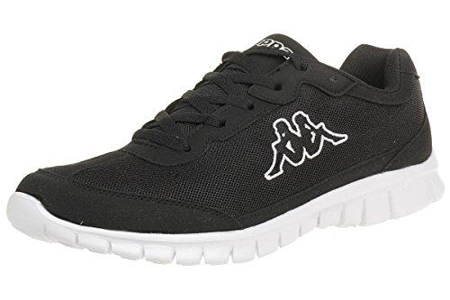 Kappa ROCKET Low Top Sneakers für Sport & Freizeit , angesagter Kappa-Style für moderne Männer , leicht & atmungsaktiv , hoher Tragekomfort , Sport- & Turnschuhe Männer, schwarz, Größe 47 EU