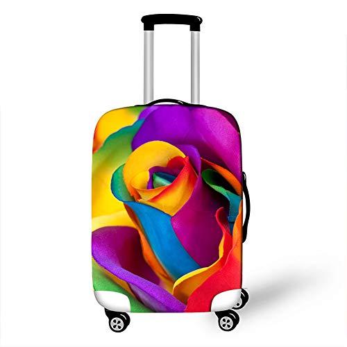 Fansu Elástico Funda Protectora de Maletas, Rosa Impresión Protector Suave Anti-Polvo Duradero y Lavable Cubierta de Equipaje de Viaje Luggage Protector Cover (Multicolor,L(26-28in))