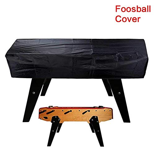 Tischfußball Tischtuch, Außen Wasserdicht Staub Rechteckig Terrasse Kaffee Stuhl Billard Fußball Abdeckung 420D Oxford Tuch - Schwarz