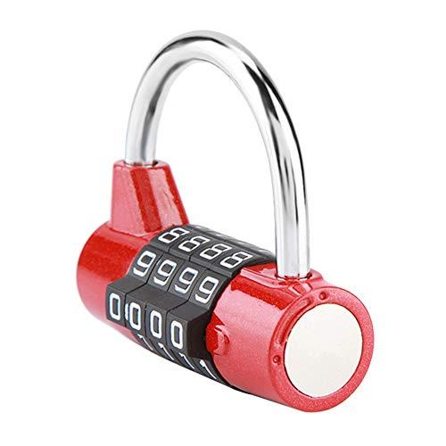 Sharainn Verschleißfeste Kombination Reisevorhängeschlösser, Passwortschloss, Leichtes Outdoor für Schulkoffer Gepäck für Fitnessstudio(red)