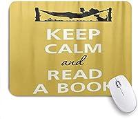 ゲームマウスパッドカスタム、落ち着いて本を読む、オフィスパーソナライズデザインノンスリップゴムマウスパッド9.5 X 7.9インチ