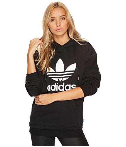 adidas Originals Women's Trefoil Hoodie, Black/French Terry, Medium