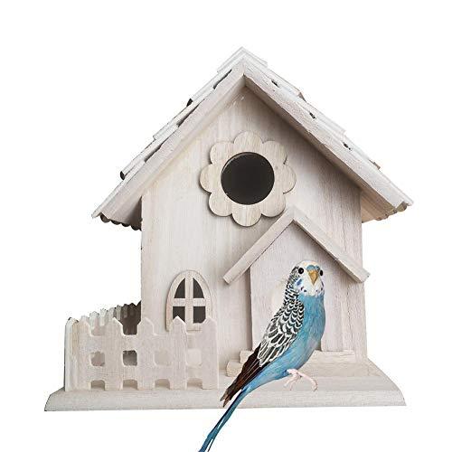 Dinapy Vogelfutterhaus Vogel-Futterhaus-Bausatz Aus Holz, Nistkasten Mit Dach Für Vogel, Vogelhaus, Vogelzuchtheim, Ideal Für Wohnkultur