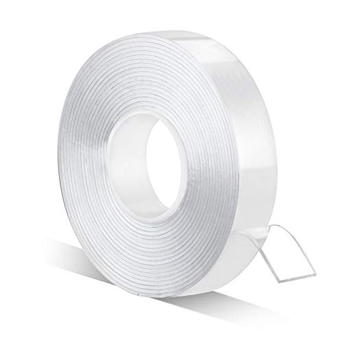 Double Sided Adhesive Tape – 1/2inch 10ft Removable Strong Adhesive Mounting Tape No Residue Transparent Tape for Fixing Carpets/Paste Items/Craft...