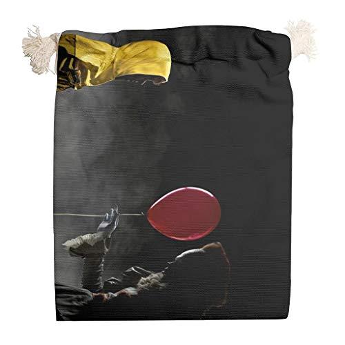 6 bolsas organizadoras de lona para Halloween, con cordón, para bodas, antipolvo, para fiestas de agradecimiento, aniversario, regalos, bolsas para caramelos, 12 x 18 cm, color blanco