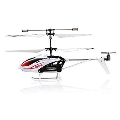 Syma S5 Gyroscope Speed 3 Channel Remote Control Infrared Helicopter - White by Syma