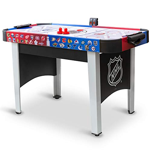 48' Mid-Size NHL Rush Indoor Hover Hockey Game Table; Easy Setup, Air-Powered Play with LED Scoring, Black