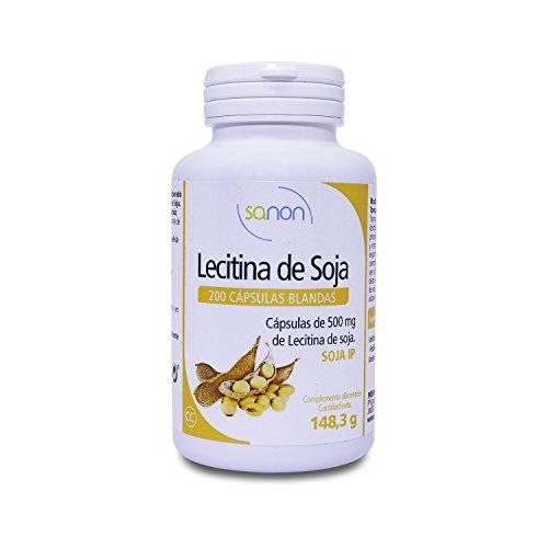 SANON - SANON Lecitina de Soja 200 cápsulas blandas de 735,19 mg