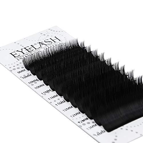 Arison Lashes Wimpernverlängerung Künstliche Wimpern Einzelwimpern Individuelle PBT Wimpernverlängerung Seidenwimpern Volumen Lashes Extensions Professional für Salon Beauty (0.1 C 9-14mm)