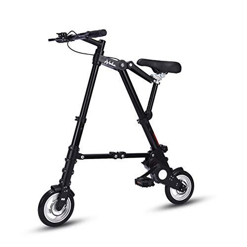 Ti-Fa Leichtes Mini Faltrad Klapprad 10 Zoll Mountainbikes mit tragendem Leicht und einfach Folding Kinder Männer und Frauen,Schwarz