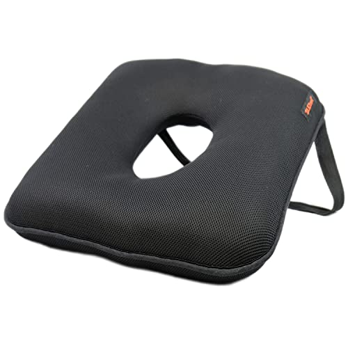 TAKIMED - Cojín para coche, tejido transpirable 3D, cojín para silla de oficina, cojín antipróstata, cojín aliviar dolores de próstata, coxis, hueso sagrado, ciática, hemorroides, producto italiano