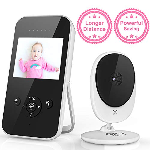 Clearance Sale Video Baby Monitor, 2.4' LCD Digital Camera with Auto Infrared Night Vision, Power Saving, 2-Way Talk Back, Temperature Sensor, Night Light, LCD Display, Lullabies