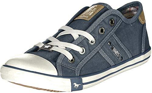 MUSTANG Damen 1099-302 Sneaker, Blau Blau Grün, 40 EU