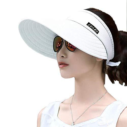 WYJW Sun HatsVisor Unisex Erwachsene Frauen Männer Große Krempe Sommer UV-Schutz Strand Baseball Cap (Farbe: 02, Größe: 52-62cm)