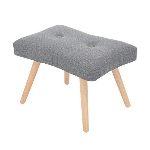 YYdy-Polsterhocker Holz gepolstert Ottoman Change Schuhe Hocker Fußhocker Fußstütze klein Sitz Fußstütze Stuhl geeignet für Wohnzimmer Schlafzimmer (Farbe : E)