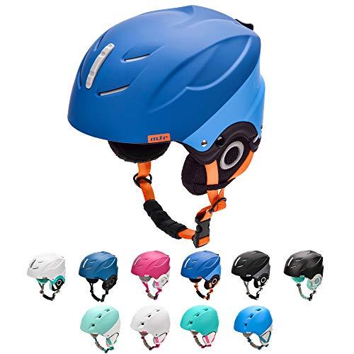 meteor Casco de Esquí y Snowboard para Niños Niñas Helmet para Jóvenes y Adultos (L 58-61 cm, LUMI Azul Marino/Azul)