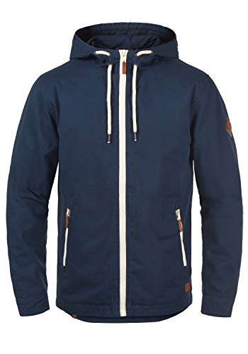 Blend Bobby Herren Übergangsjacke Herrenjacke Jacke gefüttert mit Kapuze, Größe:M, Farbe:Navy (70230)