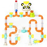 Top Right Toys Bath Pipes Building Bathtub Toy- Tubes Builder Water Bath Toys for Toddlers and Kids, 42 Pieces