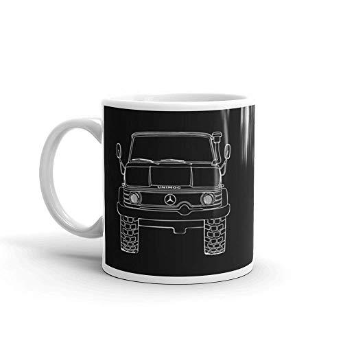 N\A Mercedes Benz Unimog Nacht. 11 Unzen Keramik glänzende Tassen Geschenk für Kaffeeliebhaber. 11 Unzen Keramik glänzend Geschenk für Kaffeeliebhaber Zitat Becher Geschenke für Männer & Frauen