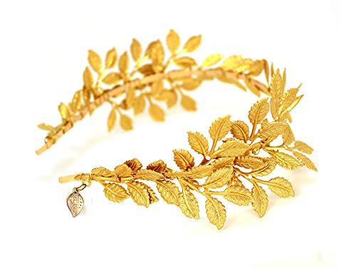 Greek Roman Goddess Gold Leaf Crown Headpiece – Bridal Wedding Headband