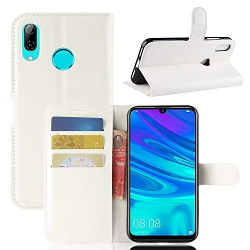 Aidinar Funda para Xiaomi Redmi Go, Flip/con Ranuras para Tarjetas de Crédito/Cubierta Magnética, para Xiaomi Redmi Go Funda(Blanco)