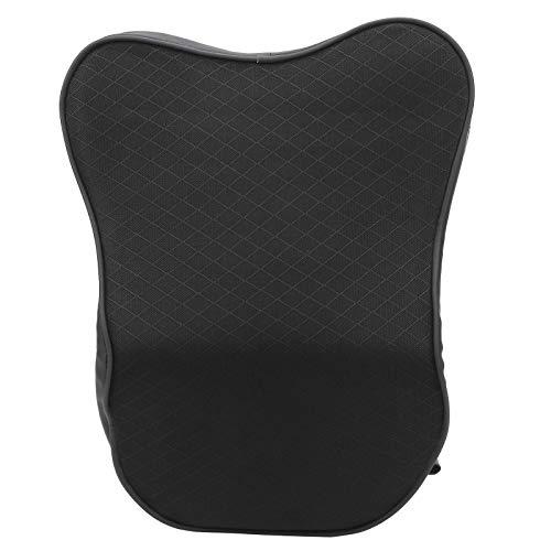 Almohada para reposacabezas, 1 Cojín para el cuello del coche Negro PU Universal