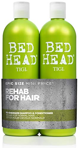 Bed Head by Tigi Urban Antidotes Re-Energise Shampooing et après-shampooing quotidien, 2 x 750 ml