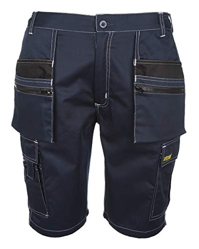 SITE KING Mens Multi Pocket Cargo Combat Work Shorts Size 30 to 44 with...